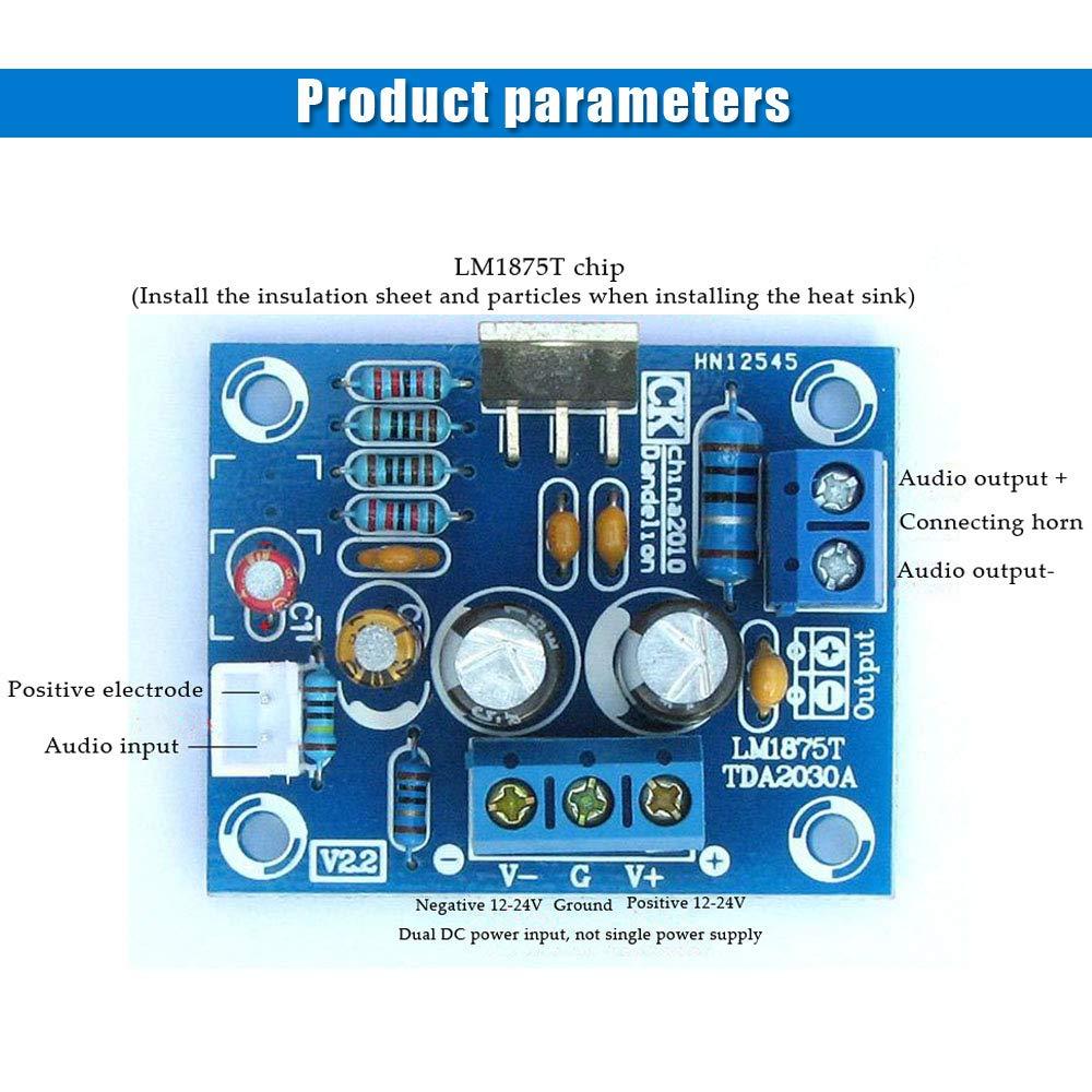 Comidox 2Sets LM1875T Mono Channel Stereo Audio Amplifier Board Module 20W HiFi DIY Kit