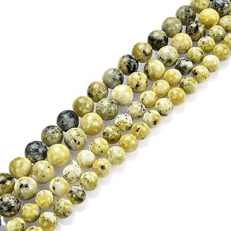 Fluorite 6mm yellow 61 beads by strand round natural yellow fluorite beads