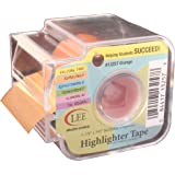 Lee Products Co. 1 7/8-Inch Wide, 393-Inch Long Removable Highlighter Tape with Refillable Dispenser, Orange (13257)
