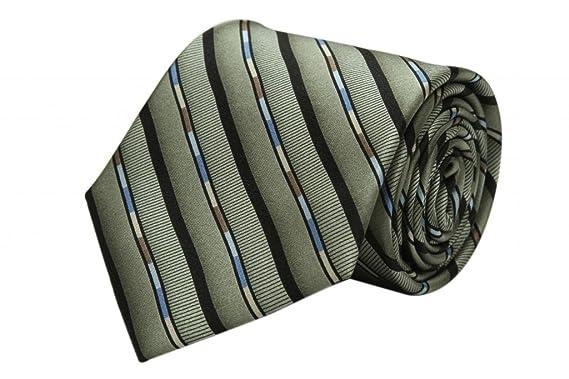 Zavetti - Corbata para hombre (tejido jacquard, seda, color gris ...
