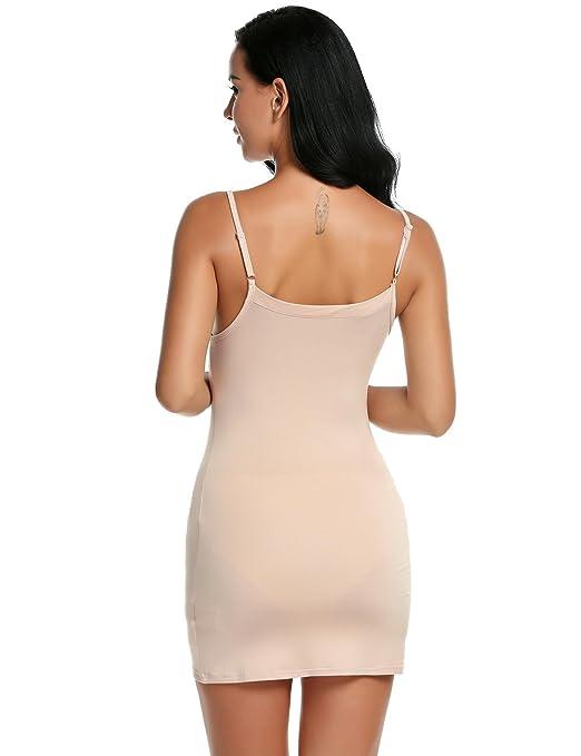 e576180a469 Amazon.com  Kecooi Full Slip Plus Size Full Slip Built in Bra Full Slip  Cotton Full Dresses  Clothing