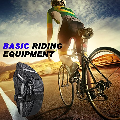 Saddle Bag, KKtick Bike Seat Bag Mountain Road Cycling Bag, Suitable for Most Types of Bicycles