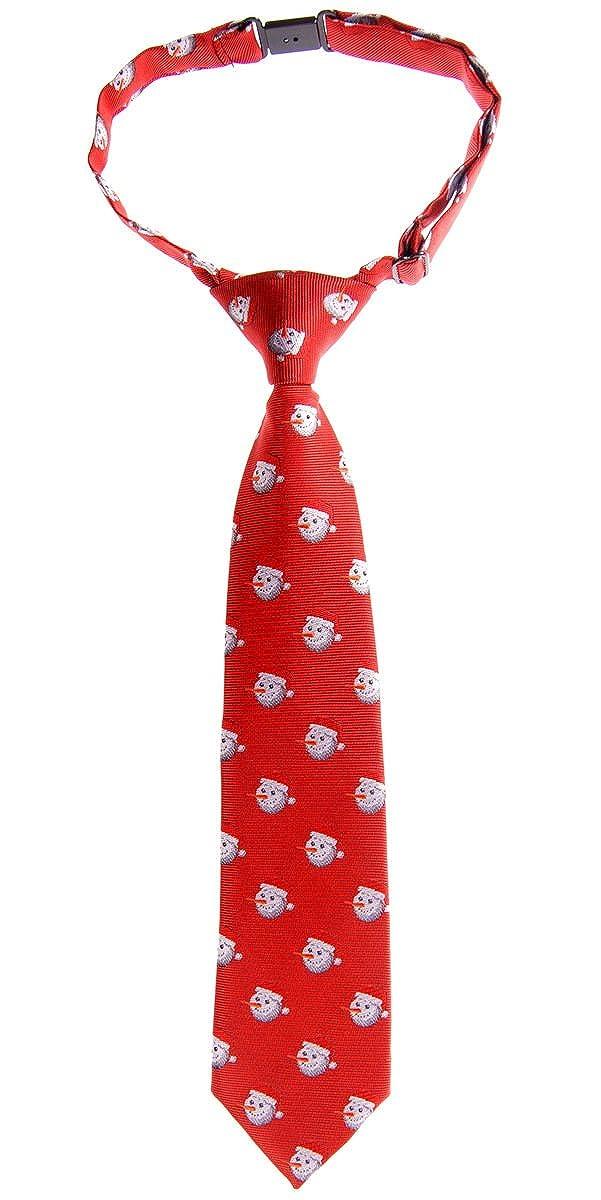 0f70de6ec Retreez Navidad feliz muñ eco de nieve tejido PRE-TIED Boy de corbata –  varios
