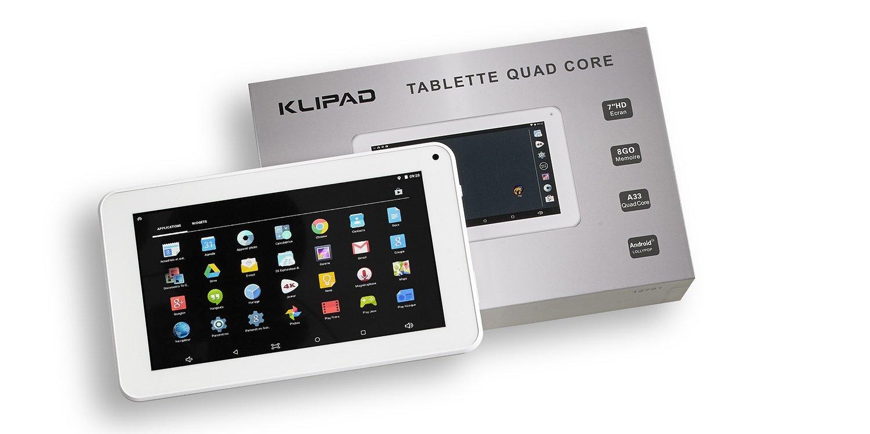 Tablette klipad 7 ordinateurs et logiciels - Tablette 7 pouces combien de cm ...