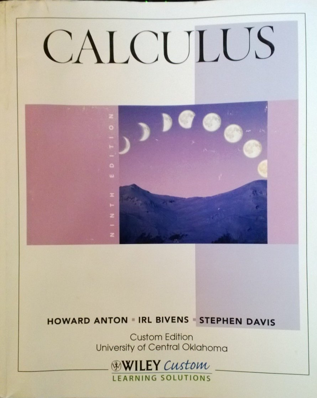 Calculus (Custom Edition University of Central Oklahoma): Howard Anton, IRL  Bivens, Stephen Davis: 9781118128541: Amazon.com: Books