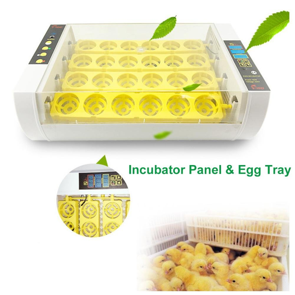 xluckx 24 Egg Incubator and Hatcher for Chicken Goose Duck Birds Digital Automatic Turning Temperature Control
