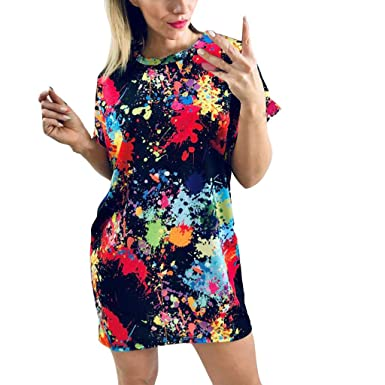 Automotive Womens Dress Solid Color Floral Short Sleeve Round Neck Off Shoulder Flowy A-line Loose Sundress Casual Daily Holiday Summer Beach Party Mini Dresses for Ladies Engine Cleaner Sprays