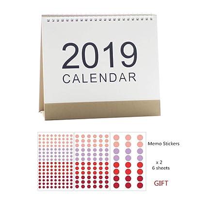 Amazon.com : MultiBey Desktop Calendar DIY Table Stand ...