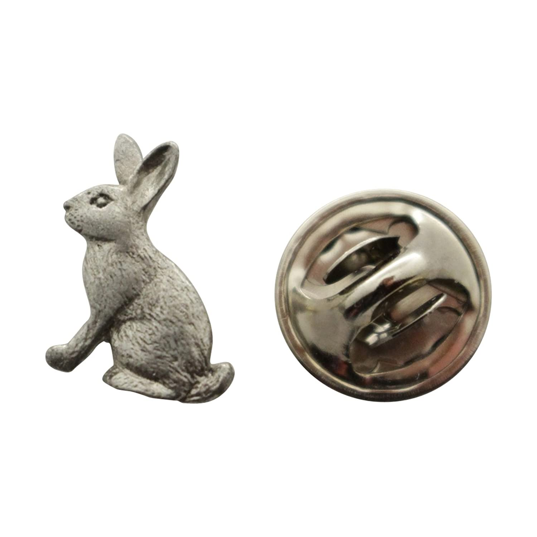 cheap Rabbit Mini Pin ~ Antiqued Pewter ~ Miniature Lapel Pin ~ Sarah's Treats & Treasures