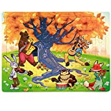 PigBangbang,Deluxe Wooden 60 Piece Jigsaw Puzzle 8.85 X 11.8''Buy 1 Get 1 Free Anime Animal Concert