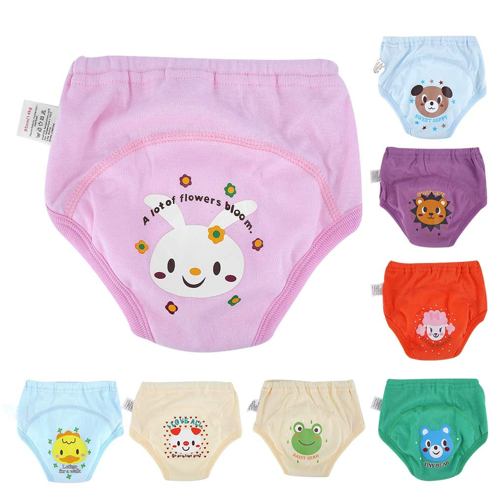 4 X Baby Toddler Girls Boys Cute 4 Layers Waterproof Potty Training Pants reusable 3-4 Years R Potty Training Pants TOOGOO