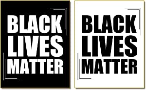 "Black Lives Matter Art Painting Inspirational Racial Harmony Equality (8""X10"" Canvas Picture), One Group of 2 art Paintings Phrase Mural for KTV Bedroom Art Print Poster,Office Home Decor"