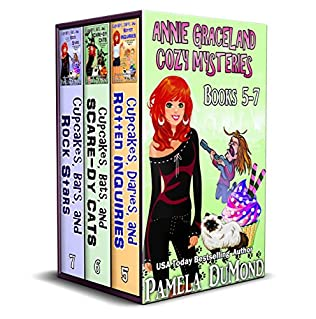 book cover of The Annie Graceland Cupcakes Cozy Mystery Books 5-7