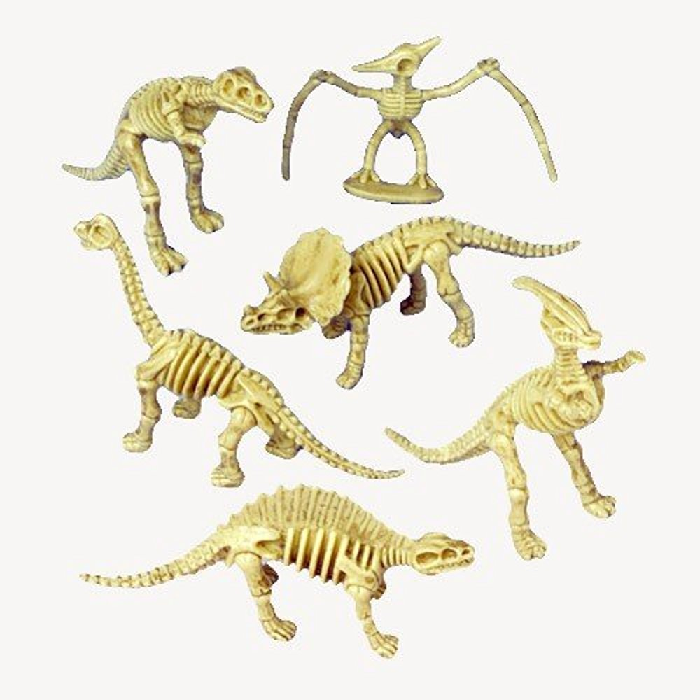 Just4fun 2 Dozen (24) Dinosaur Skeleton Figures - 3 5