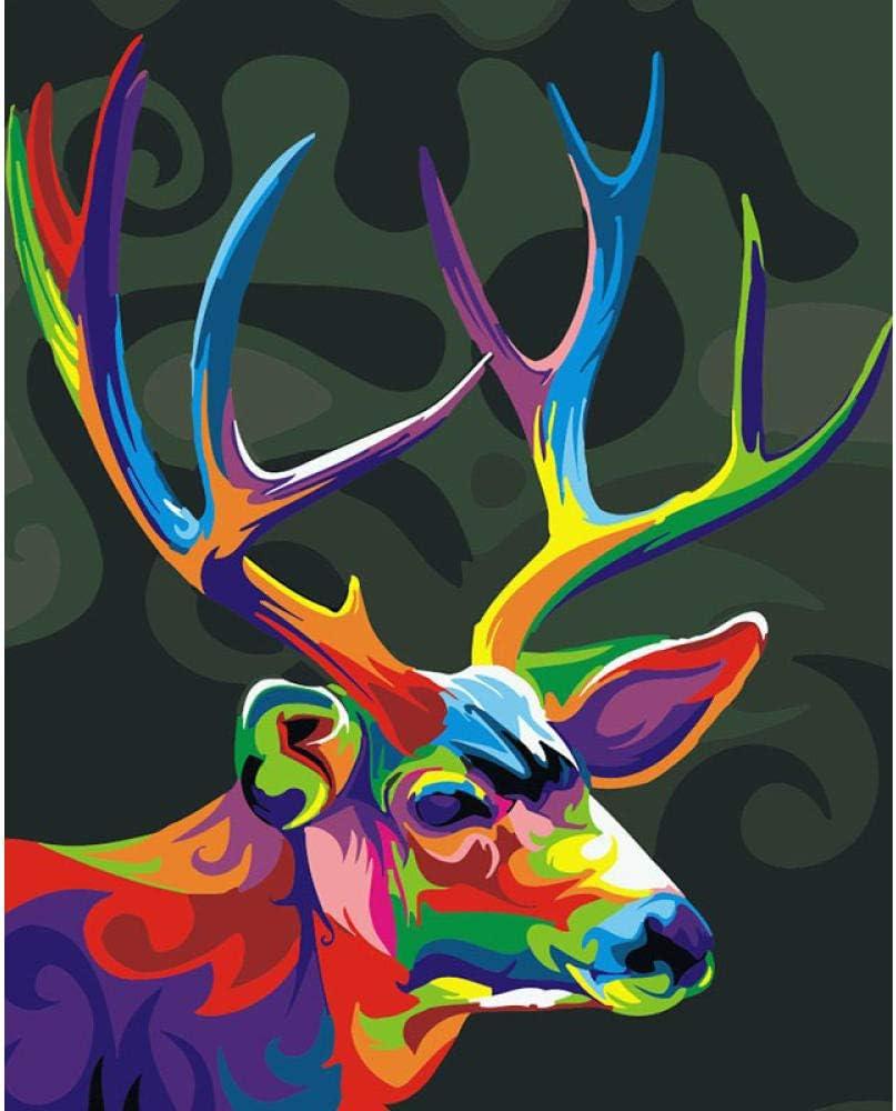 Pittura Acrilica Fai da Te con 3 Pennelli 16 x 20 Pollici per la Decorazione della Parete di Casa Casa sullalbero I-WILL DIY Dipinto ad Olio Dipingere con i Numeri Kit per Adulti Bambini