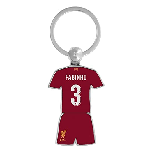 finest selection ff60d 19a29 Amazon.com: Liverpool FC Red Soccer Fabinho Kit Keyring 19 ...