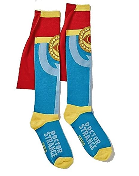fe8e9ff05f9 Image Unavailable. Image not available for. Color  Doctor Dr. Strange Knee  High Cape Socks Shoe Size ...
