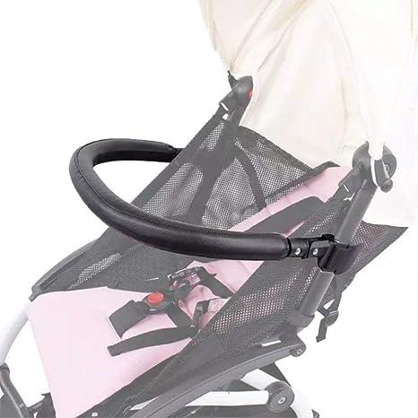 Barras de parachoques para cochecitos, accesorios de coche para Babyzen yoyo, apoyabrazos con errores de cuero negro de la PU