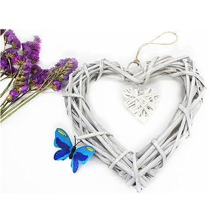 Amazon Gezichta Heart Shape Rustic Style Willow Wicker Wreath