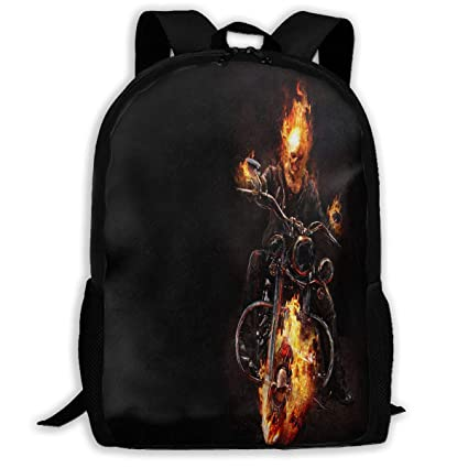 942a97016480 Amazon.com : Cool-custom Backpack Girls Boys Ghost Rider Zipper ...