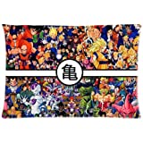 Artsy Artistic Dragon Ball Z Custom Zippered Pillowcase Pillow Cases Cover 20x30 (one side) Standard Size Super Cartoons Anime Series
