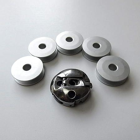 Bobbin Case #225-24169 + 5 bobinas para máquina de coser Juki Lz-2280 Zigzag: Amazon.es: Hogar