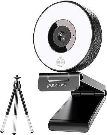 Amazon Co Jp Papalook Webカメラ Ledライト付き ライブストリーミングウェブカメラ Full Hd 1080p 自動光補正 フルhd 高画質 1080p マイク内蔵 Pc外付けカメラ Windows Mac ウェブ会議 動画配信 ゲーム実況 ビデオ通話 在宅勤務など ストリーミングプロ級 カメラ