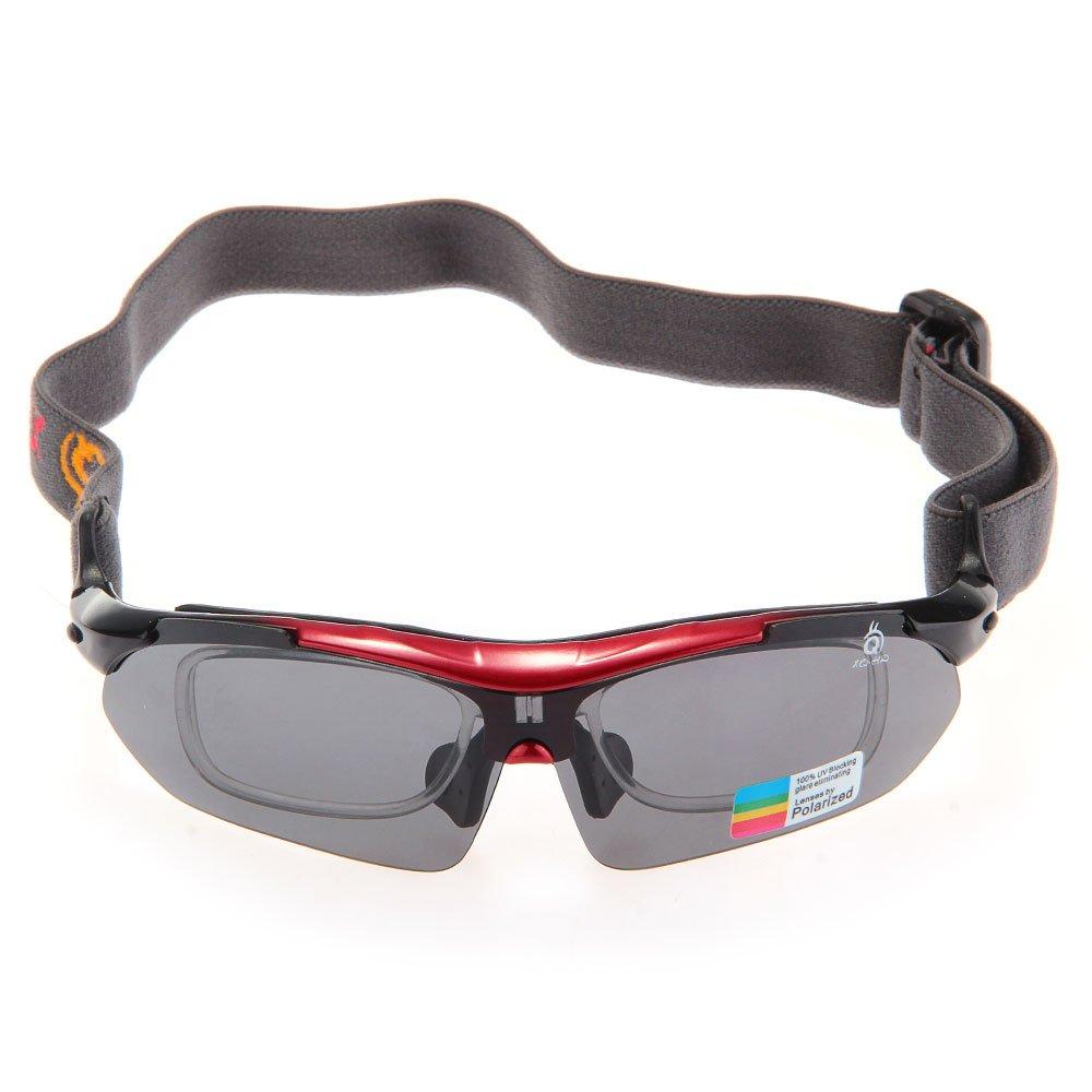 Gafas de Sol UV400 Polarizadas para Ciclismo Esqui Moto Deporte Rojo: Amazon.es: Deportes y aire libre