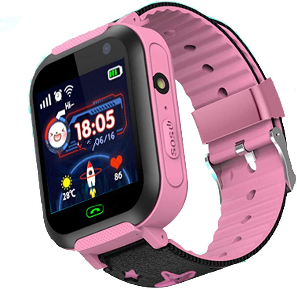 Niños Smartwatch Impermeable - Reloj de Pulsera Inteligente con ubicación GPS/LBS Reloj Despertador SOS Reloj Digital Cámara Linterna Juegos para ...