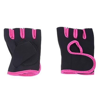 SODIAL(R) NUEVO Deporte Ciclismo Fitness Gym medios guantes del dedo entrenamiento con ejercicios