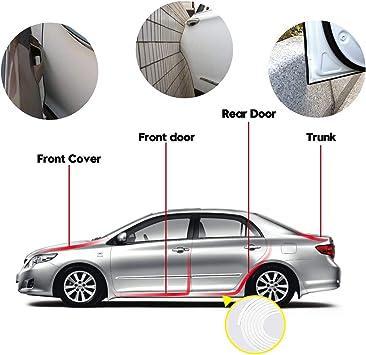 Rubber Car Door Protector Car Door Bumper Edge Guard Protection U Shape Edge Trim LIBERRWAY Car Door Edge Guards 13Ft 4M