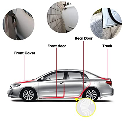 Car Door Edge Guards 10m U Shape Edge Trim Rubber Strip Seal Protector white Car Protection Door Edge Fit for Most Car No Glue Required