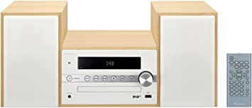 Schlafzimmer und B/üro Pioneer X-CM56D HiFi-Micro-System Wohnzimmer CD-Player, Lautsprecher, DAB+, UKW Radio, Bluetooth, USB, MP3, 2 x 15 Watt Weiss Kompaktanlage f/ür K/üche