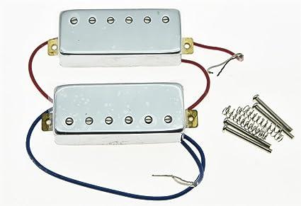 Humbucker Pickups Pickup Neck /& Bridge For LP Les Paul Electric Guitar Chrome