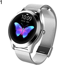 OMENU Women Fashion Round Screen Smart Wristband Watch Multi-Sports Mode Bracelet with Heart Rate Activity Tracking Blood Pre