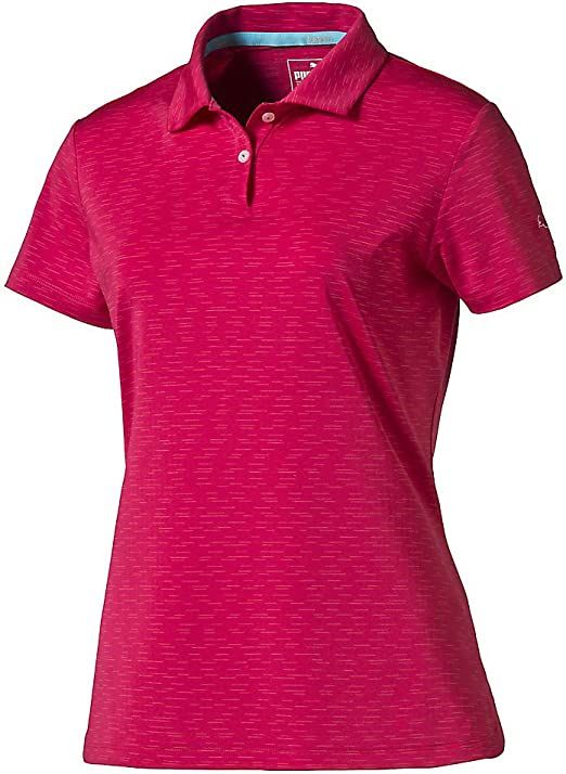 Puma Golf 2017 Womens Space Dye Polo, Rose Red, X-Small: Amazon ...
