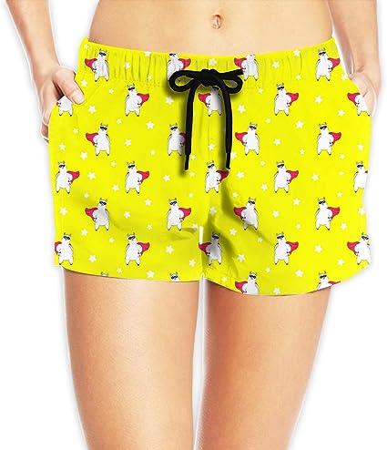 Women High Waist Summer Casual Floral Beach Sport Hot Pants Running Shorts Print