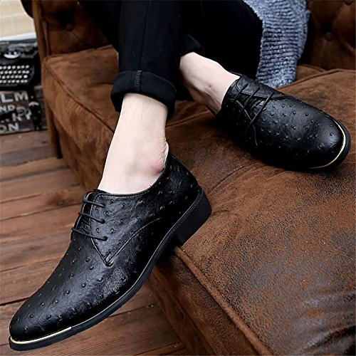 Formal Office Wedding Black Blue Men's Dress HUAN Oxfords Casual Leather Business Red Shoes Suit C Shoes AfAXzx8n