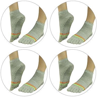 e3f5d3974 Women's Sports Socks, J'colour Girl's Anti Skid Grip Full Toe Low Rise Socks