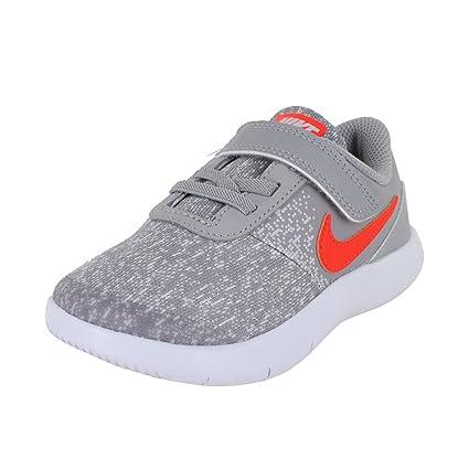 4a3d1d2bf04b7 NIKE Toddler Flex Contact (TDV) Grey Total Crimson Vast Grey Size 10