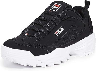 Fila Disruptor III Zapatillas para hombre, Negro (Negro/Rojo ...