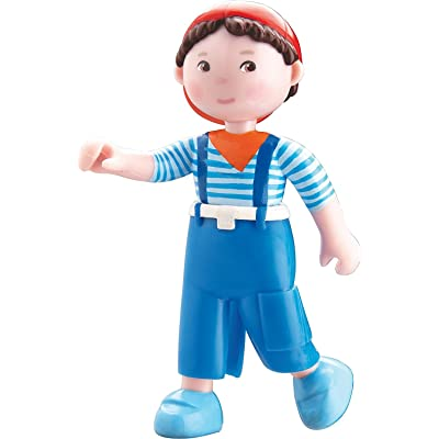 "HABA Little Friends Matze - 4"" Bendy Boy Doll Figure with Blue Overalls and Red Cap: Toys & Games"