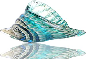 Qf Hand Blown Seashell, Beautiful Home Decor, Handmade Glass Art, Glass Conch