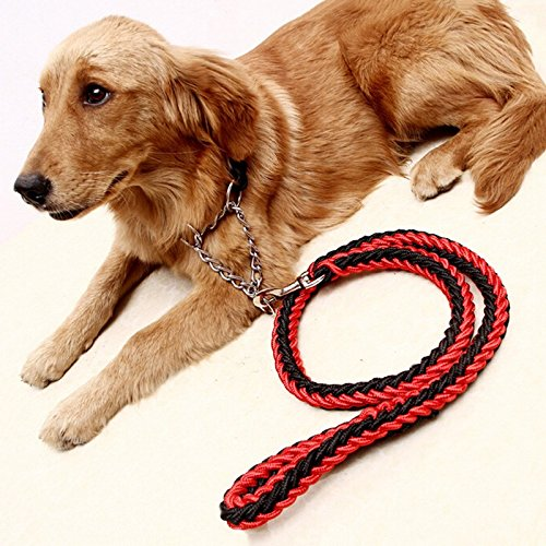 Pet-Supplies-Spliced-Color-Dog-Leads-Adjustable-Nylon-Walking-Training-Dog-Rope-Traction-Dog-Harness-Collar-Leash