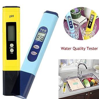 Nivalkid - 2 medidores de calidad del agua PH 2 en 1 0-9990 ...