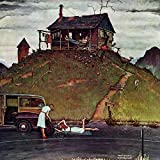 Marmont Hill Norman Rockwell Prints on Canvas ''Changing a Flat'' Art Print, 40 by 40''