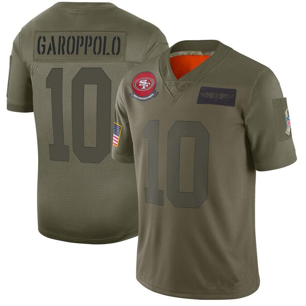 Jimmy Garoppolo San Francisco 49ers #10 Retro Camiseta Jugador B/ásquetbol Transpirable y Resistente al Desgaste Camiseta Fan Hombres,S