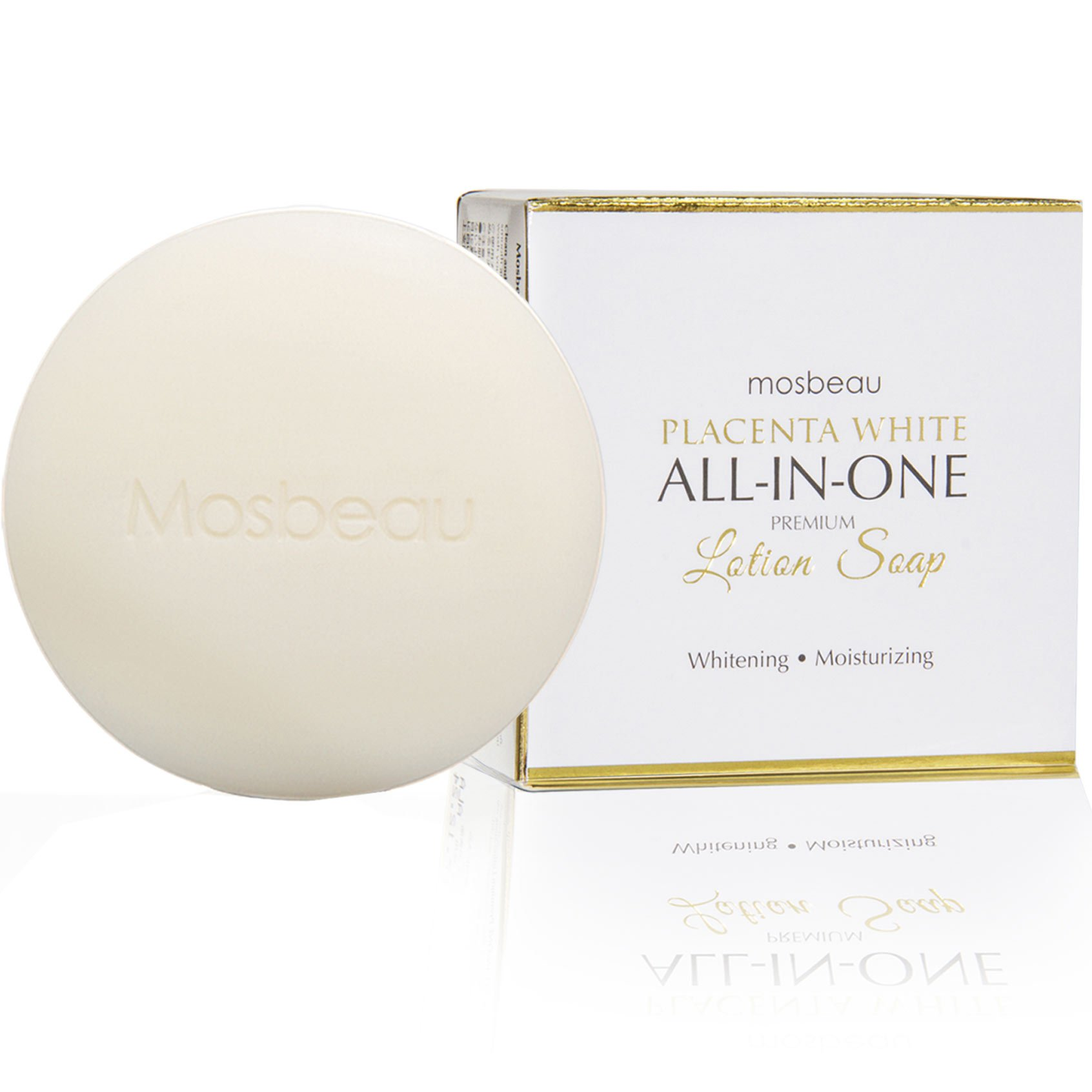 12 Bars of Authentic Mosbeau Placenta White All-In-One Premium Whitening Lotion Soap