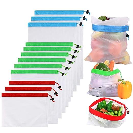 Mgrett - Bolsas para Frutas y Verduras (12 Unidades, poliéster sin ...