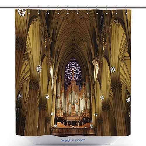 Waterproof Shower Curtains The Pipe Organ In St Patrick S Cathedral In Manhattan Nyc 73090624 Polyester Bathroom Shower Curtain Set With Hooks